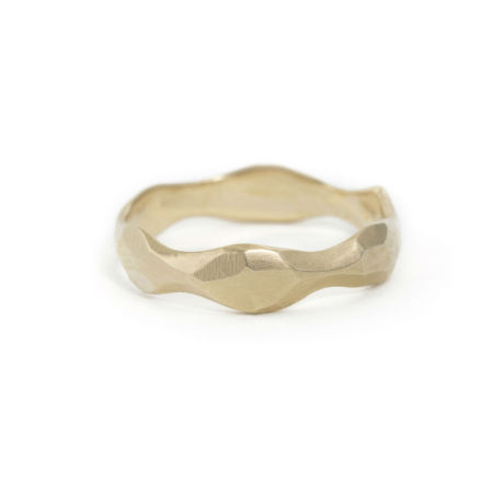 14K gold wedding band by Kendra Renee