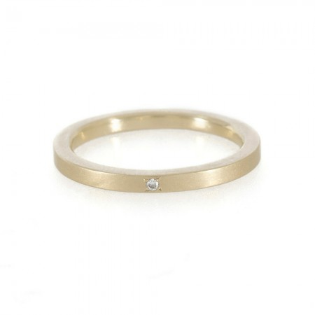 Diamond and Gold Ring for Proposing