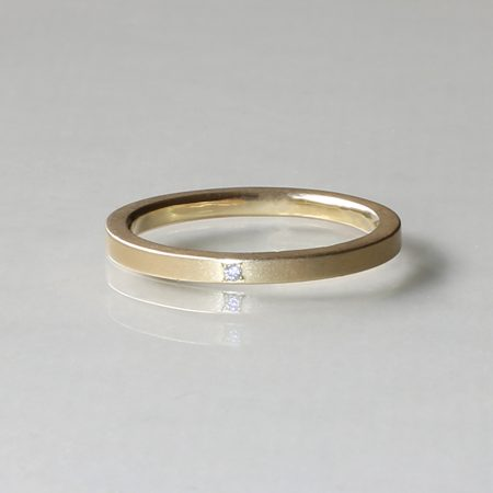 Gold and Diamond Proposal Ring