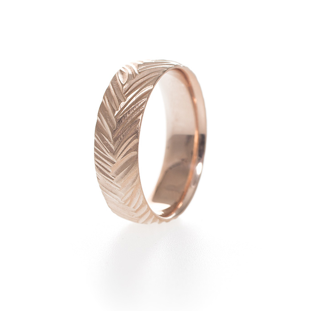 Woven handmade wedding band by kendra renee for Woven wedding ring
