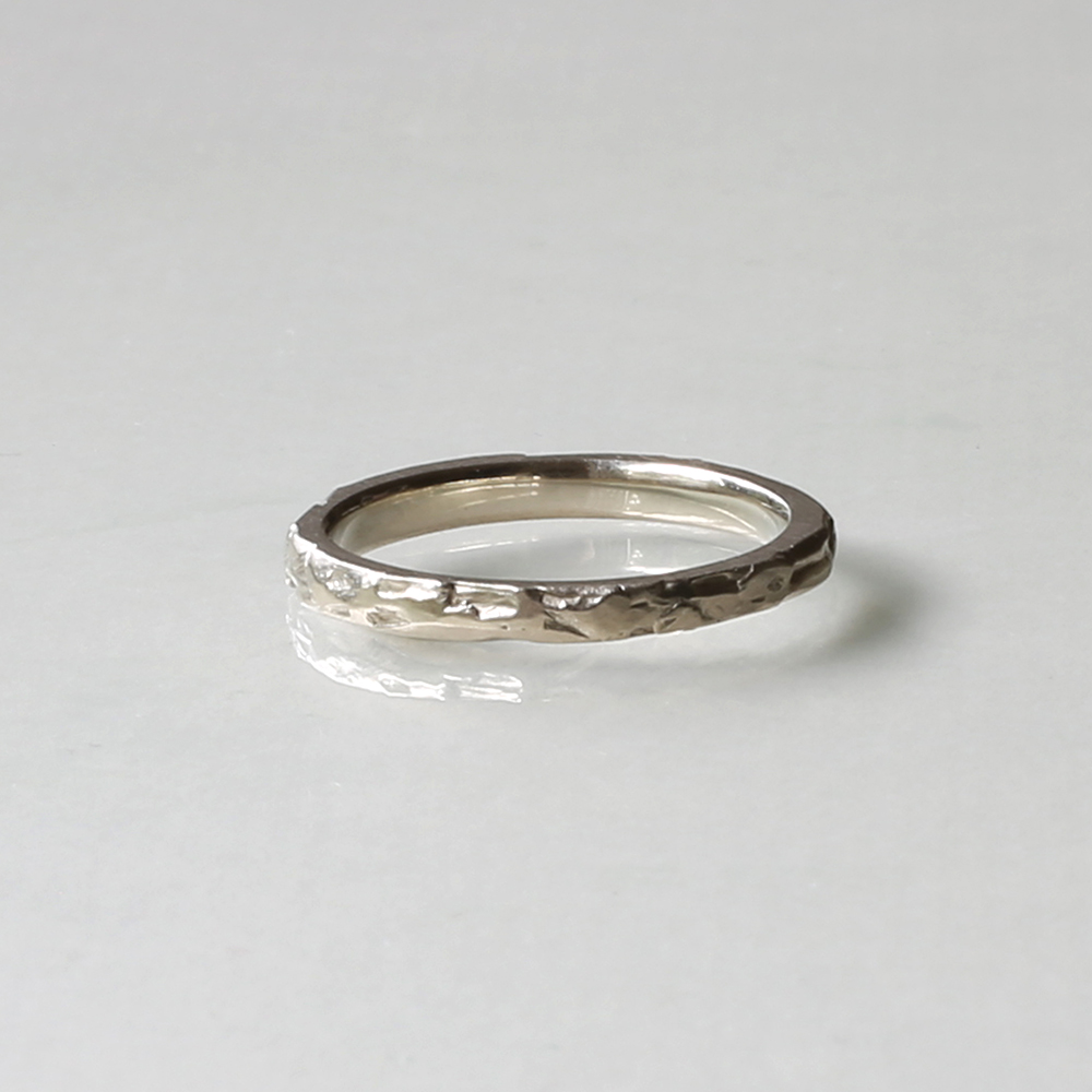 Hand Crafted Wedding Rings: Textured Handmade Wedding Band By Kendra Renee